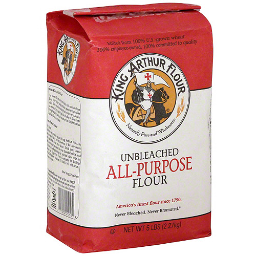 King Arthur Unbleached All Purpose Flour, 5 lb (Pack of 8)