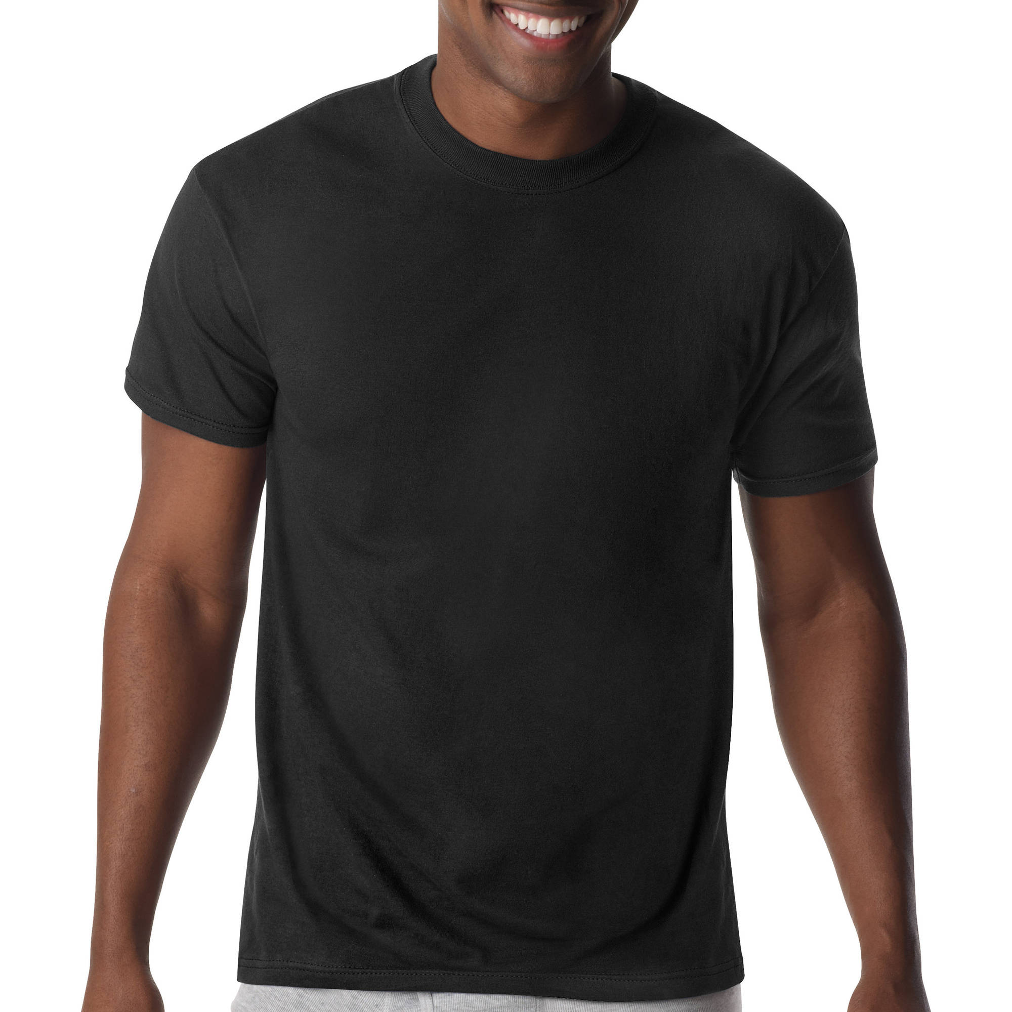 Hanes Big Men's FreshIQ ComfortBlend Crew Neck T-Shirts 3-Pack, 2XL