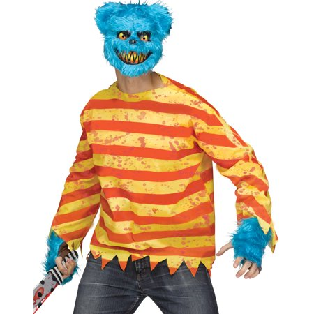 Creepy Quotes About Halloween (Furry Creepy Blue Killer Bear Adult Halloween Costume)