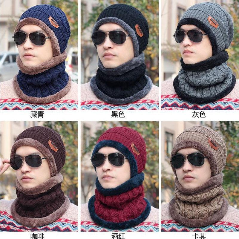 Outdoor Ski Men Women Crochet Knit Baggy Beanie Wool Hat Winter Warm Skull Cap