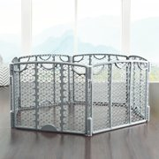 Evenflo Versatile Playspace Indoor/Outdoor Gate, Cool Gray