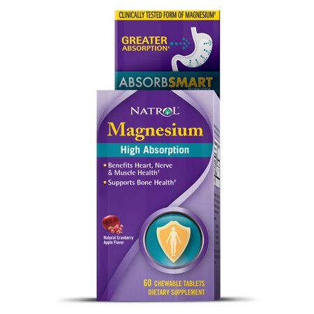 Natrol - High Absorption Magnesium Cranberry - 60 Chewable