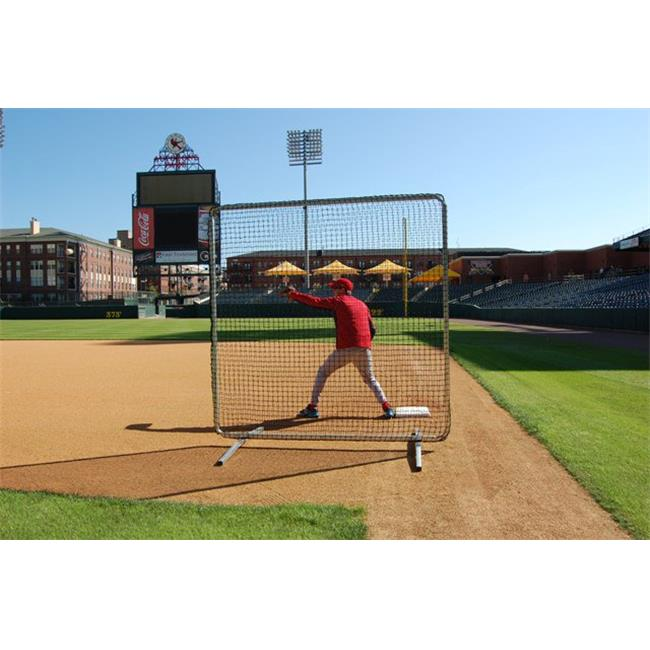 Trigon Sports B427720 ProCage Premium 1st Base- Fungo Protective Screen 7 ft. x 7 ft withNet