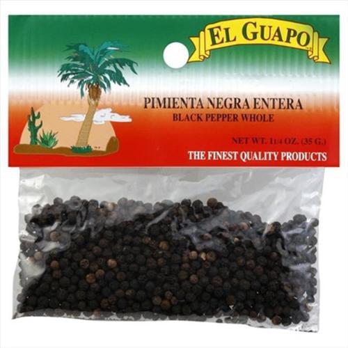 El Guapo Pepper Blk Whl 1. 25 Oz -Pack of 12