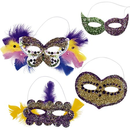 DIY Assorted Shaped Paper Masks (24 Pack) - Party Supplies - Diy Paper Crown