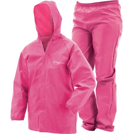 Frogg Toggs Youth Ultra-lite2 Waterproof Rain Suit - Medium, Pink