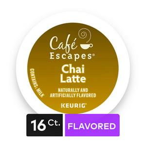 Café Escapes Chai Latte Keurig Single-Serve K-Cup Pods, 16 Count