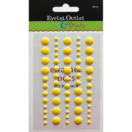 Eyelet Outlet Adhesive-Back Enamel Dot, 60pk