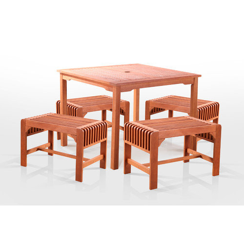 Vifah 5 Piece Dining Set