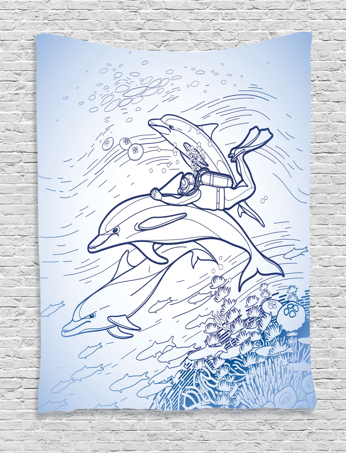 Diving Dolphin Childrens Tapestry Kit by Collection D/'Art
