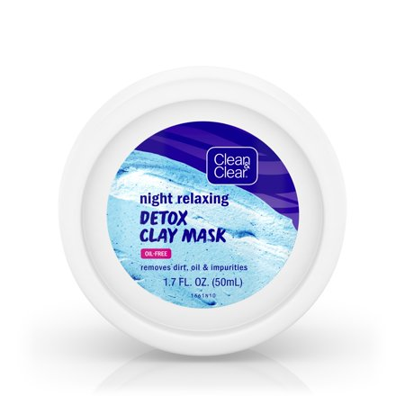 Clean & Clear Night Relaxing & Purifying Clay Face Mask, 1.7