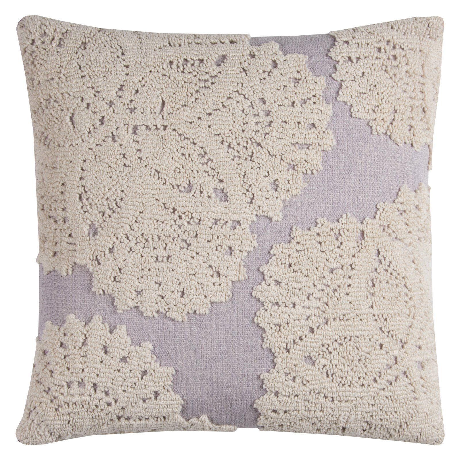 "Rizzy Home Decorative Poly Filled Throw Pillow Medallion 20""X20"" Light Purple"