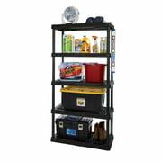 "HART 5 Tier 18"" x 36"" x 72"" Heavy-Duty Plastic Ventilated Shelving Unit for Storage & Organization"