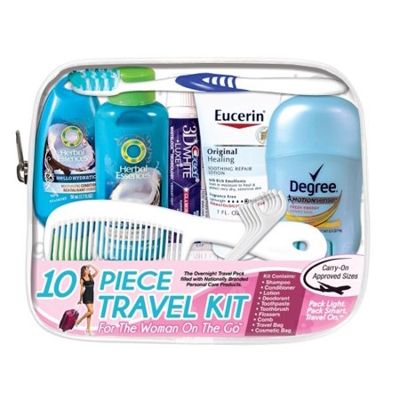 Convenience Kits International    Woman On The Go   Deluxe 10 Pc Travel Kit Featuring  Herbal Essences Shampoo And Conditioner Plus Eucerin Original Healing Lotion