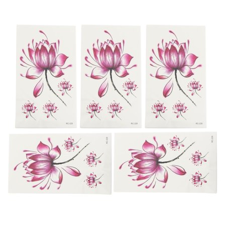 5pcs Feathers Butterfly Flower Deer Pattern Temporary Tattoo Body Arm Stickers - Small Turtle Tattoo