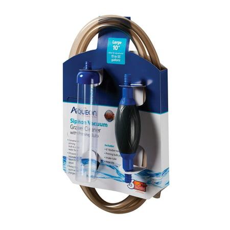 10 Inch Gravel Tube - Aqueon Siphon Vacuum Gravel Cleaner W/Bulb, Large 10