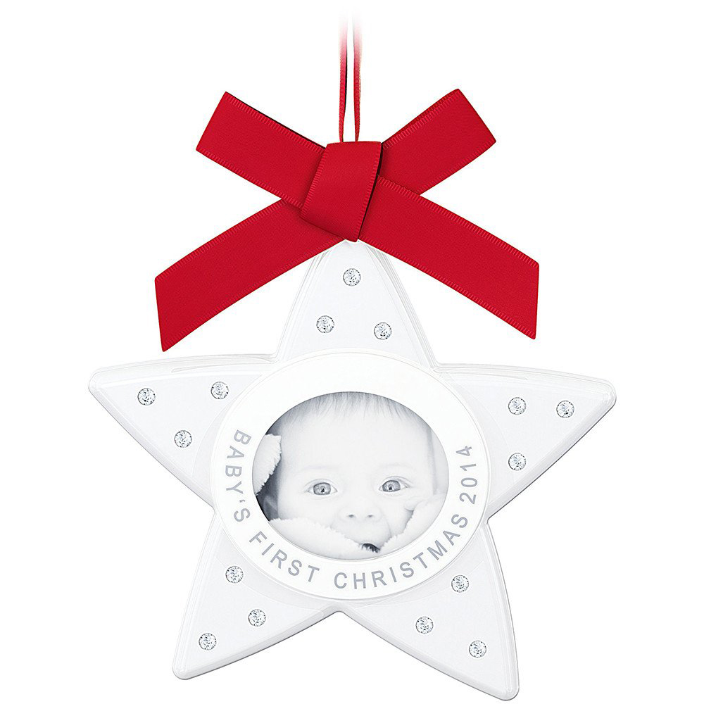 Swarovski Christmas ORNAMENT BABY'S FIRST CHRISTMAS 2014 ...