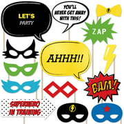 BAM! Superhero - Piece Photo Booth Props Kit - 20 Count