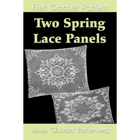 - Two Spring Lace Panels Filet Crochet Pattern - eBook