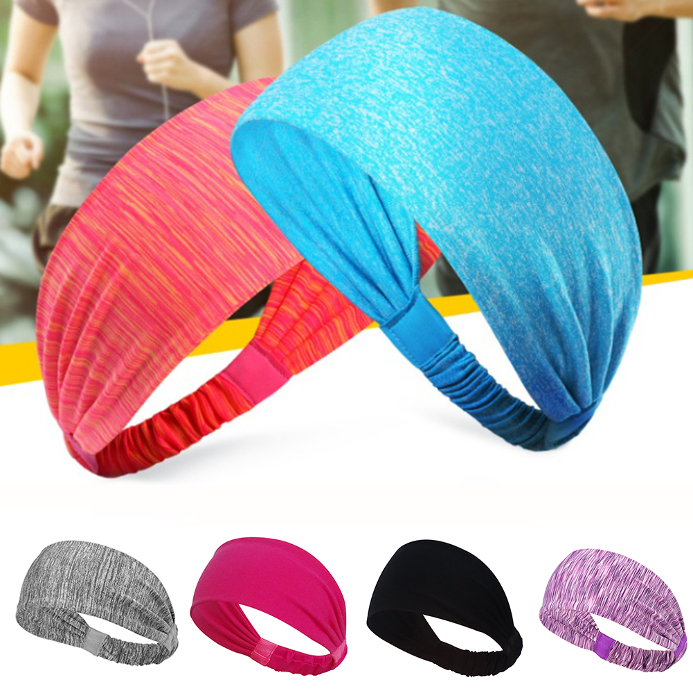HiCoup Men Women Sports Sweatband Headband Running Yoga Stretch Headband Hair Band