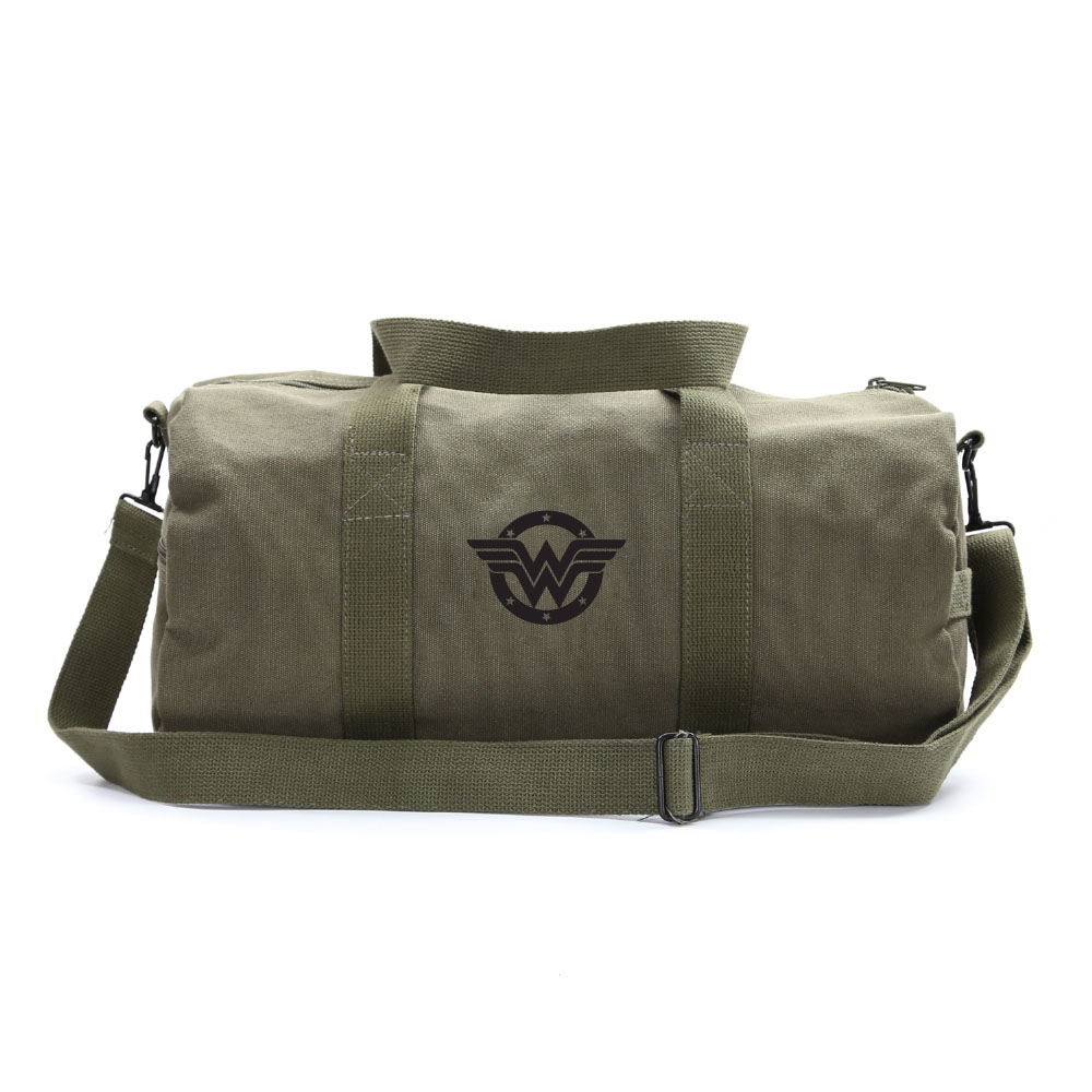 Wonder Woman Logo Sport Heavyweight Canvas Duffel Bag 6cdafe6316a