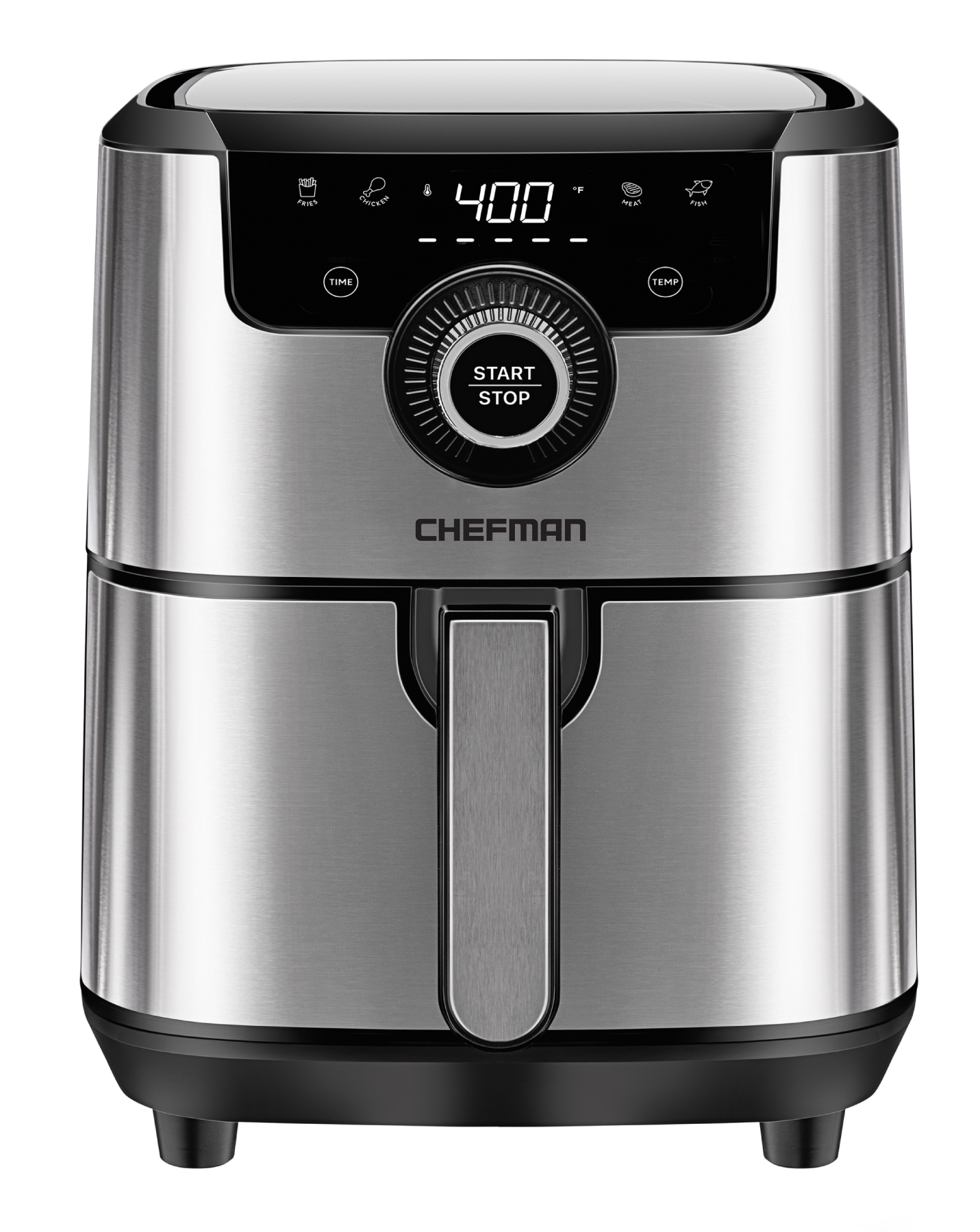 CHEFMAN TurboFry Touch 4.5 Qt Digital Air Fryer Silver Stainless Steel Open Box