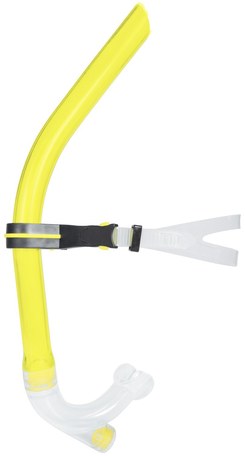 Swim Snorkel Swimming with Adjustable Head Strap, One-Way Purge Valve & Center Mount Mouthpiece Design by Ivation