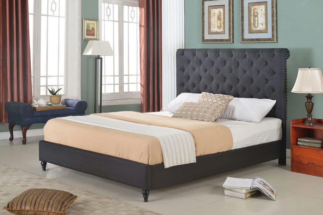 """HomeLife® 48"""" Black Studded Platform Bed Frame - Walmart ..."""