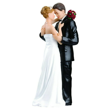 1PCS Wedding Cake Toppers Bride and Groom Figurines Resin White Stand Topper Accessories Casamento Decoration (Bride And Groom Halloween Cake Topper)