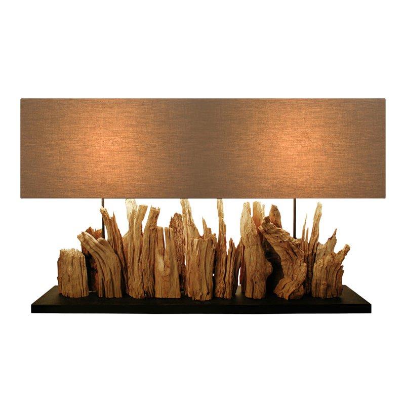 Bellini Modern Living Aspen Driftwood Rectangular Table Lamp
