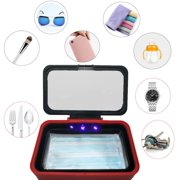 Phone Sanitizer Box UV Phone Sterilizer Soap Foldable Large Capacity Cell Phone Cleaners Disinfector with USB Cable for All iPhone Android Toothbrush Watches Glasses Portable Phone Sanitizer Station