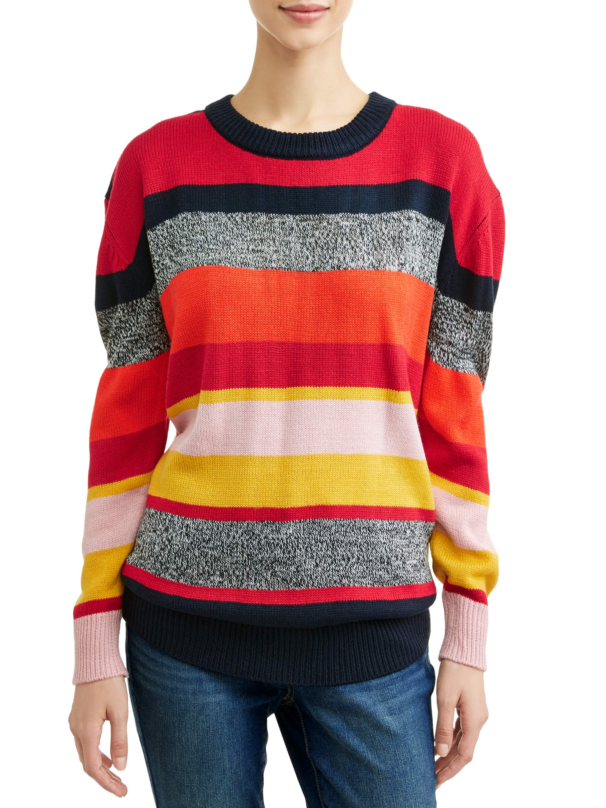 Women's Rainbow Stripe Sweater