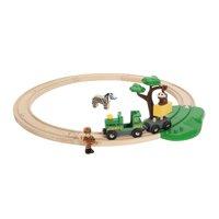 BRIO World Wooden Railway Train Set - Safari Starter Set - Ages 3+