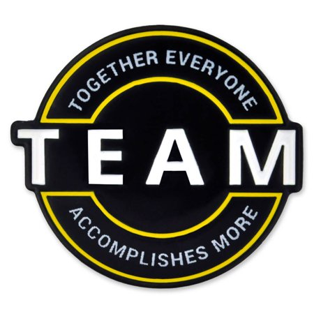PinMart's Motivational Team Together Everyone Accomplishes More Enamel Lapel Pin