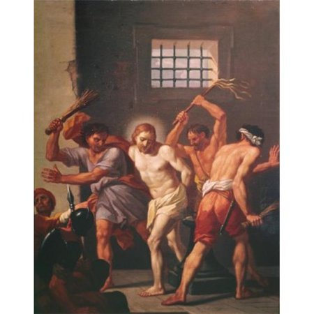 Posterazzi SAL900108333 The Scourging of Christ Hendrick Krock 1677-1738 Danish Poster Print - 18 x 24 in. - image 1 of 1