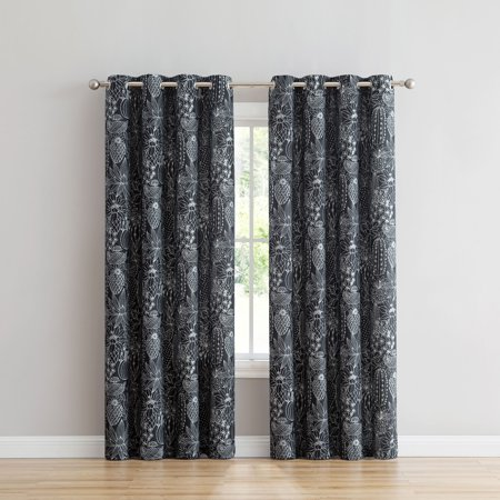 Mainstays Cacti Printed Grommet Curtain Panel