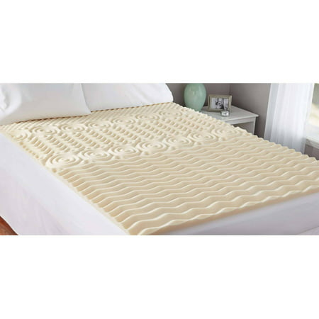 "Mainstays Memory Foam 1.5"" Zoned Mattress Topper, 1 Each"