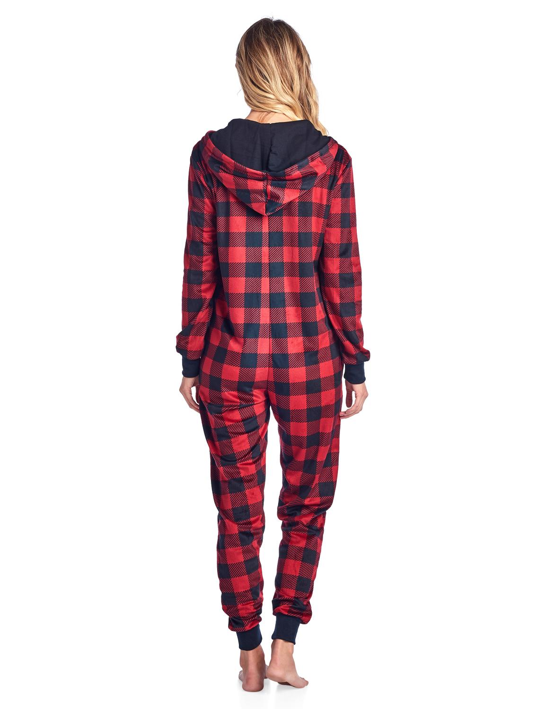 Ashford Brooks Womens Mink Fleece Hooded One Piece Pajama Mom N Bab Long Pants Blue Polkadot Size 4t Jumpsuit