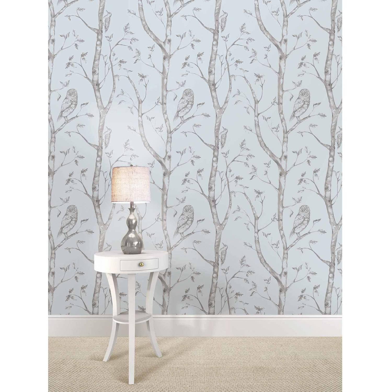 NuWallpaper Blue Woods Peel and Stick Wallpaper Walmart