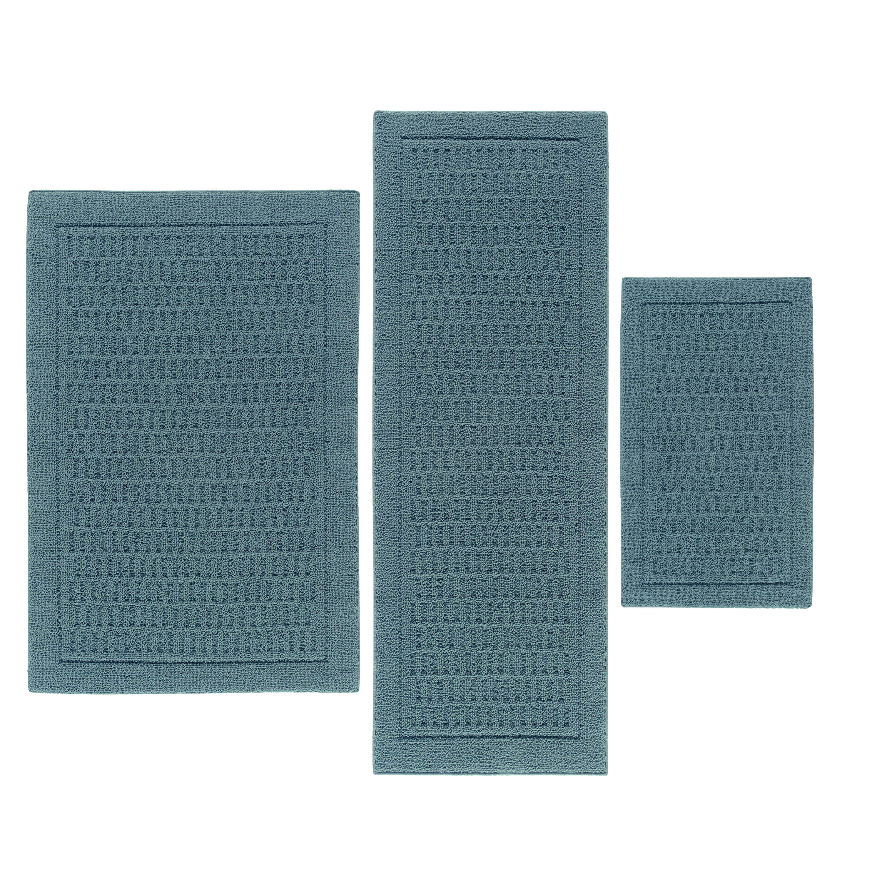 Mainstays Dylan Nylon 3-Piece Accent Rug Set, Multiple Colors