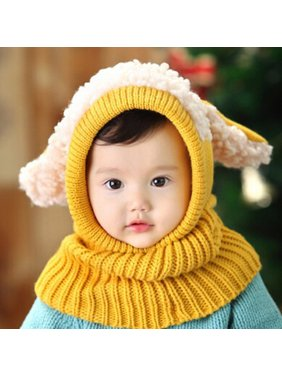 Baby Winter Hat,HURRISE Dog Style Comfortable Winter Baby Hat and Scarf Joint Knitted Caps for Infant Boys Girls