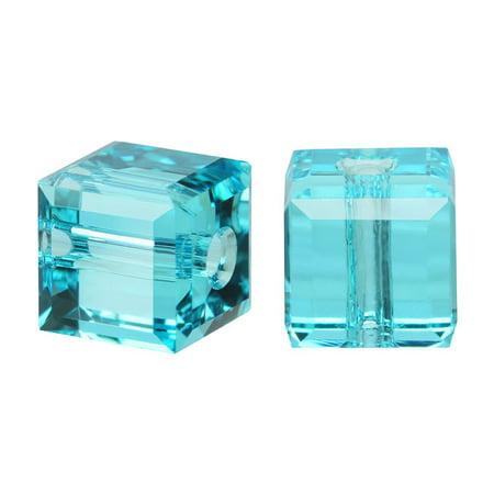 Swarovski Crystal, #5601 Cube Beads 6mm, 4 Pieces, Light - Swarovski Crystal Cubes 6mm Light