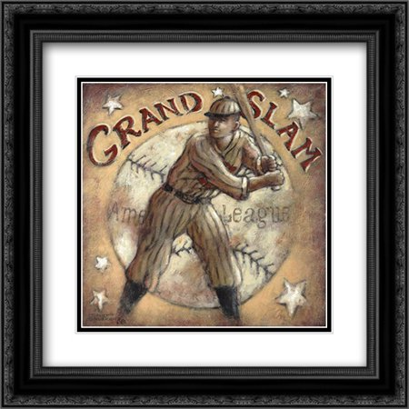 Grand Slam Framed (Grand Slam 2x Matted 20x20 Black Ornate Framed Art Print by Kruskamp,)