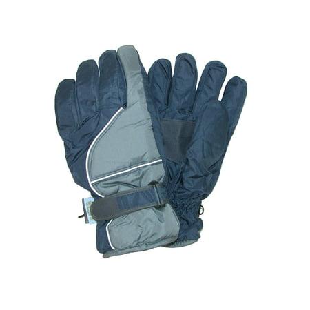 CTM Men s Waterproof Ski Gloves with Contrast Piping - Walmart.com 74dc9309d4b8