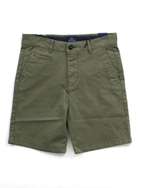Toddler Boy's Twill Shorts with Rolled Cuff