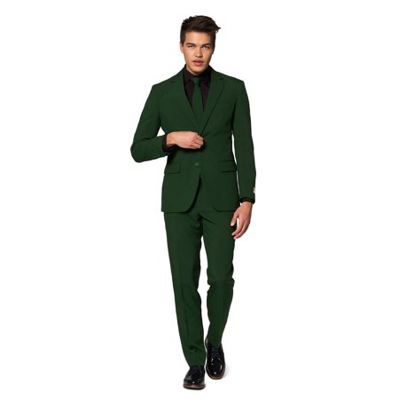 OppoSuits Men's Glorious Green Solid Color (Men's Opposuits El Muerto Suit)