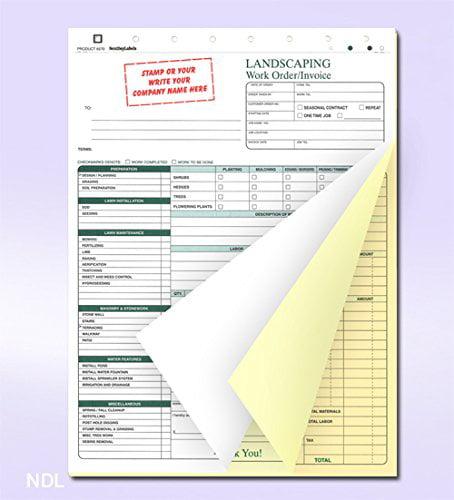 work order sheets