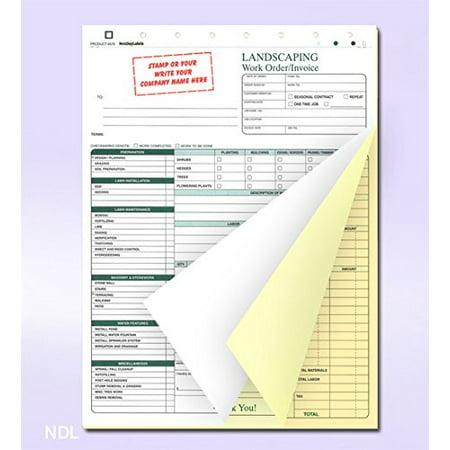 landscaping work order form invoice billing sheets walmart com