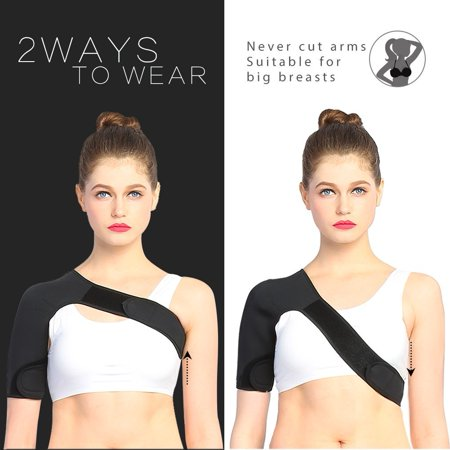 Shoulder Brace Support Wrap AC Joint Rotator Cuff Brace for Women Lightweight Athletic Football Shoulder Immobilizer for Men Neoprene Inferno Wrap Labrum Shoulder Compression Brace(Left/Right)