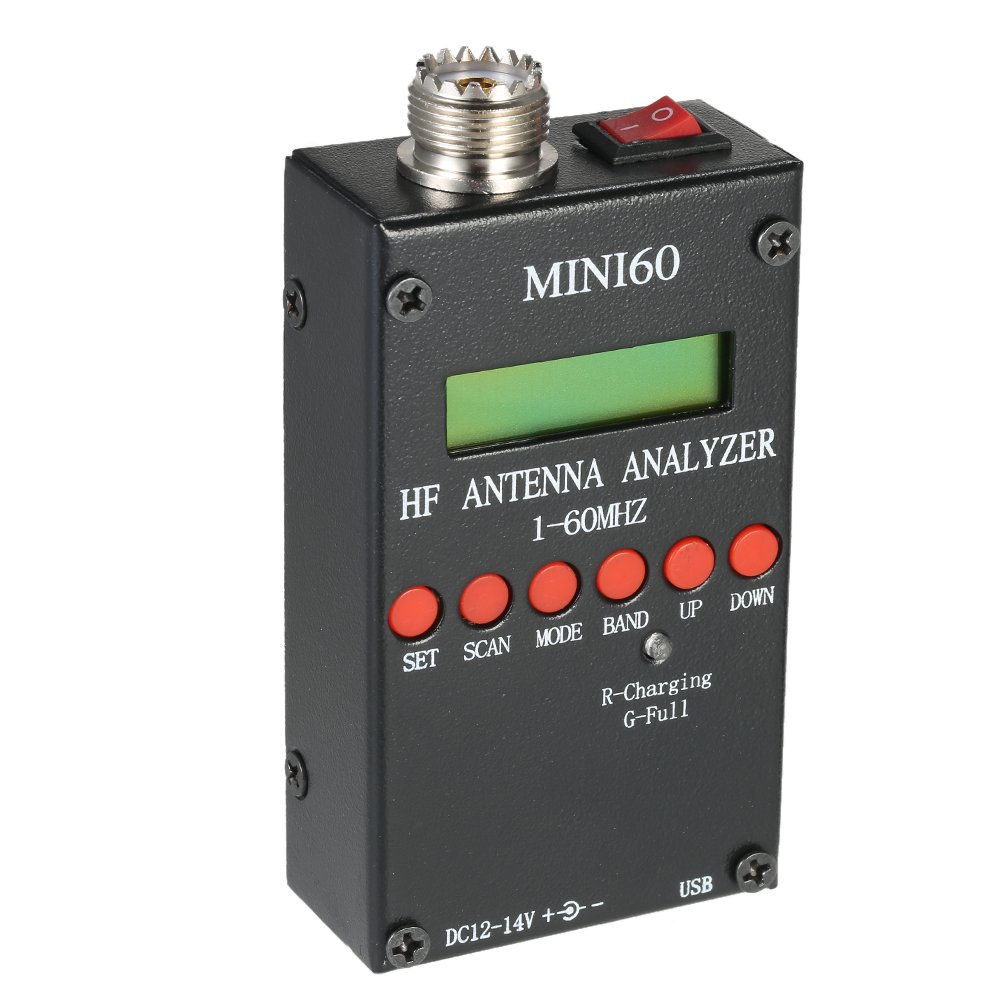 Mini60 Antenna Analyzer Meter 1-60MHz SARK100 AD9851 HF ANT